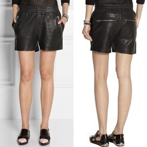 Oak and Fort Leather High Waisted Shorts